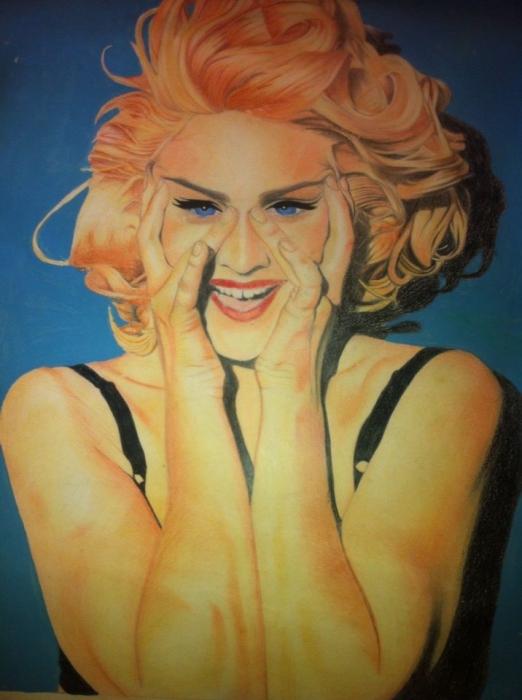 Madonna por freehand